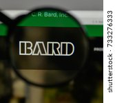 Small photo of Milan, Italy - August 10, 2017: C.R. Bard logo on the website homepage.