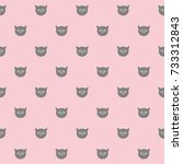tile vector pattern with grey... | Shutterstock .eps vector #733312843