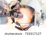 the night vision device for the ... | Shutterstock . vector #733317127