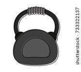 kettlebell fitness or sport... | Shutterstock .eps vector #733322137