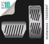 vector car elements steel... | Shutterstock .eps vector #733325347
