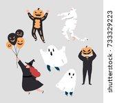vector illustration of funny...   Shutterstock .eps vector #733329223