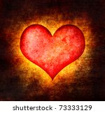Grunge Red Heart Background