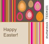 Brown Easter Card