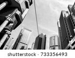 commercial building in hong... | Shutterstock . vector #733356493