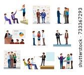 business people groups... | Shutterstock .eps vector #733367293