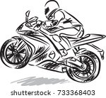 biker man vector illustration | Shutterstock .eps vector #733368403