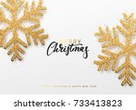 christmas background with... | Shutterstock .eps vector #733413823
