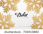 frohe weihnachten. xmas... | Shutterstock .eps vector #733413883