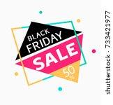 black friday sale template... | Shutterstock .eps vector #733421977
