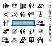 business management icons | Shutterstock .eps vector #733425403