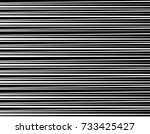abstract monochrome stripes... | Shutterstock .eps vector #733425427