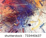 bright color fireworks.... | Shutterstock . vector #733440637
