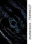 dark black low poly background. ...   Shutterstock . vector #733446127