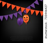 halloween greeting template.... | Shutterstock .eps vector #733446427