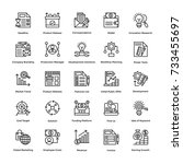 project management vector icons ... | Shutterstock .eps vector #733455697