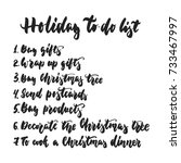 holiday to do list   hand drawn ... | Shutterstock .eps vector #733467997