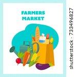 farmers market concept. shop... | Shutterstock . vector #733496827