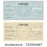 check  cheque   chequebook... | Shutterstock .eps vector #733504687