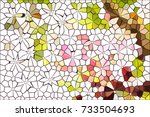 colourful on white  abstract... | Shutterstock . vector #733504693
