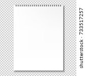blank notebook  isolated on... | Shutterstock . vector #733517257