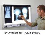 specialist watching images of... | Shutterstock . vector #733519597