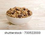 muesli chocolate on wooden... | Shutterstock . vector #733522033