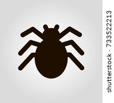 spider isolated flat vector icon | Shutterstock .eps vector #733522213