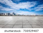 empty marble floor and... | Shutterstock . vector #733529407