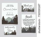 wedding invitation set with... | Shutterstock .eps vector #733530187