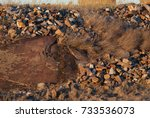 stones thrown on the ground ... | Shutterstock . vector #733536073