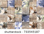 abstract home decorative wall... | Shutterstock . vector #733545187