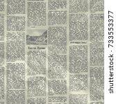 vector old newspaper background ... | Shutterstock .eps vector #733553377