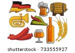 oktoberfest icon set  | Shutterstock .eps vector #733555927