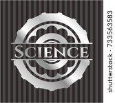 science silver badge or emblem | Shutterstock .eps vector #733563583