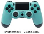 turquoise gaming controller... | Shutterstock . vector #733566883