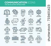 communication. social media....   Shutterstock .eps vector #733601623