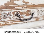 old wooden antique chest of... | Shutterstock . vector #733602703