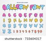 hand drawn balloon font from a...   Shutterstock .eps vector #733604317