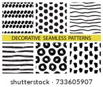 decorative seamless pattern... | Shutterstock .eps vector #733605907