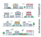 city vector illustration. urban ... | Shutterstock .eps vector #733648513