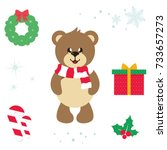 Cartoon Cute Bear Vector...