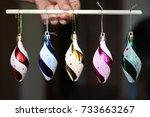 christmas decorations | Shutterstock . vector #733663267