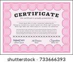 pink diploma. money pattern...   Shutterstock .eps vector #733666393
