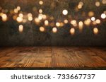 antique concrete wall with... | Shutterstock . vector #733667737