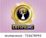 golden emblem or badge with... | Shutterstock .eps vector #733678993