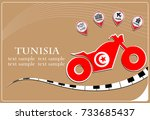 motorcycle logo made from the... | Shutterstock .eps vector #733685437
