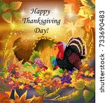 thanksgiving day greeting card | Shutterstock .eps vector #733690483