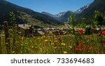 village of queyras regional park | Shutterstock . vector #733694683