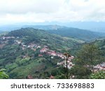 beautiful view of doi mae... | Shutterstock . vector #733698883